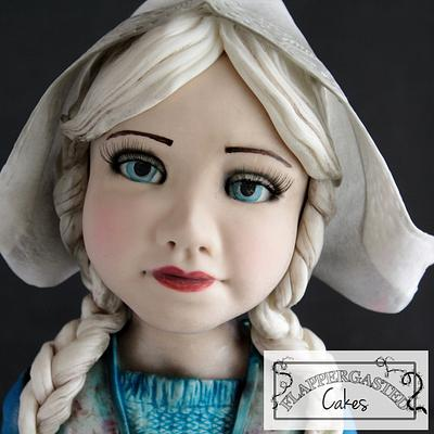 Dutch cheese girl doll Annie - Cake by Flappergasted Cakes