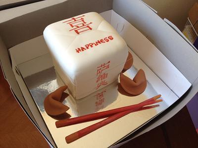 Chinese Take-out Box - Cake by Daniele Altimus