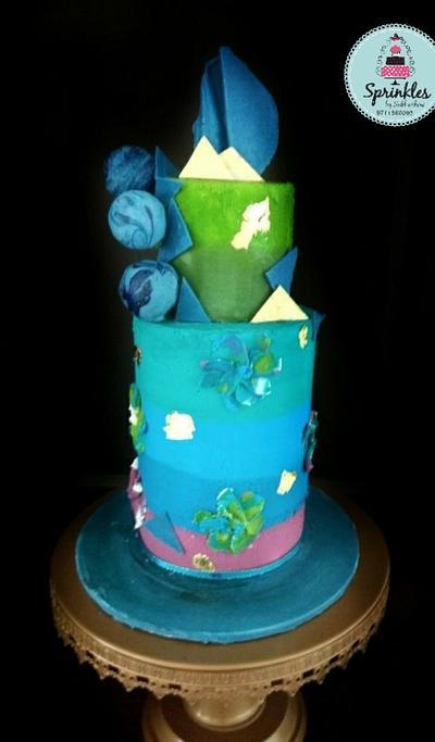 Cakerbuddies collaboration- Cool Blues  - Cake by Subhashini