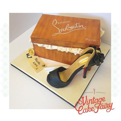 Louboutin Shoe and box - Cake by Vintage Cake Fairy