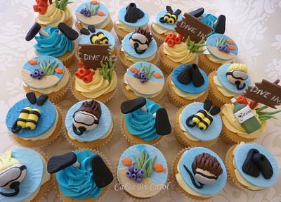 Snorkelling cupcakes - Cake by Carol