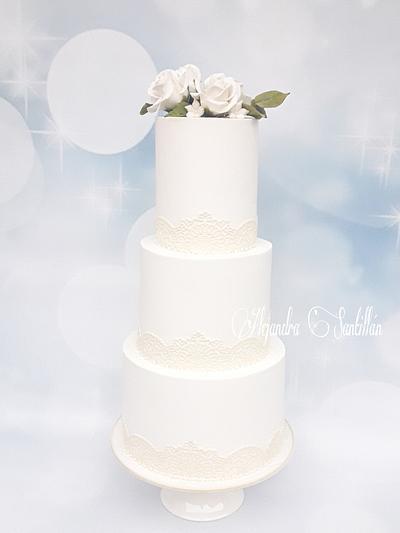 Pastel de bodas!! - Cake by Alejandra Santillán