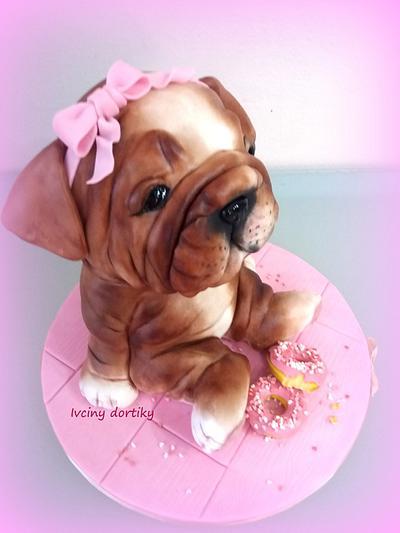 Anglicky buldoček - Cake by Ivciny dortiky