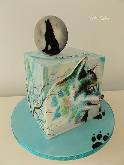Wolf  - Cake by MOLI Cakes