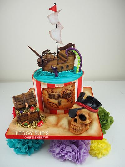 Pirate Cake - Cake by PeggySuesCC