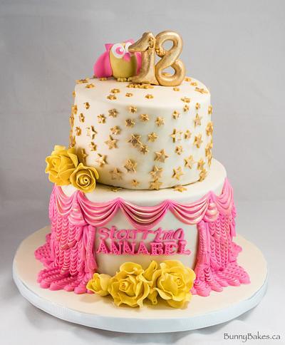 Happy 18th  - Cake by BunnyBakes
