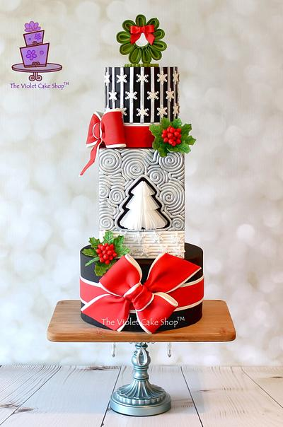 STARRY NIGHT Christmas Cake - Cake by Violet - The Violet Cake Shop™