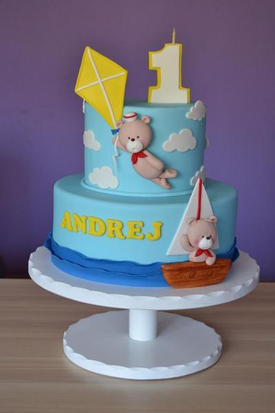 Sweet bear on holiday - Cake by Zaklina