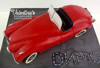 3D Car Cake Jaguar XK 120 - Cake by Valentina's Sugarland