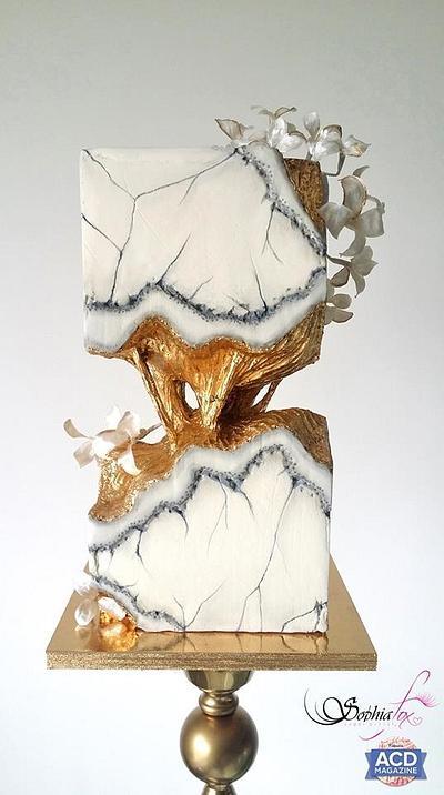 Concrete Marble Wedding Cake - Cake by Sophia  Fox