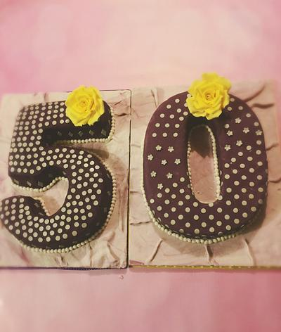 50 with a touch of sparkle - Cake by Tania's Delights