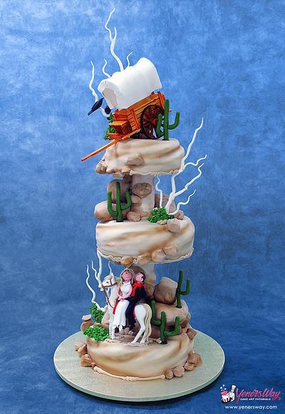 Wild Wild West Themed Wedding Cake - Cake by Serdar Yener | Yeners Way - Cake Art Tutorials