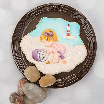 A Day at the Beach Cookie 👶🏖️🐚 - Cake by Bobbie