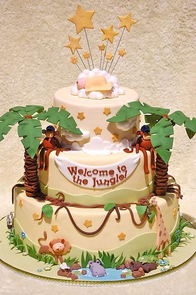 Jungle Baby Shower - Cake by Lesley Wright