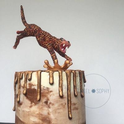 Jumping Jaguar Cake  - Cake by Christina Wallis Flowers  & Veiners