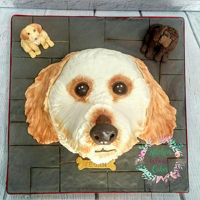 Cockerpoo & friends - Cake by Kitchen Island Cakes