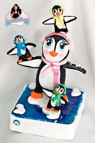 Sweet Penguins  - Cake by Nuray Keskin Zorlu