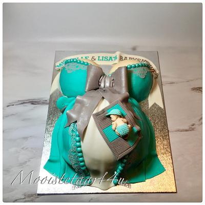 Babyshower Bellycake... - Cake by Mooistetaart4u - Amanda Schreuder