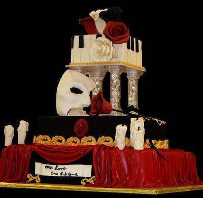 Phantom of the opera - Cake by Kianna