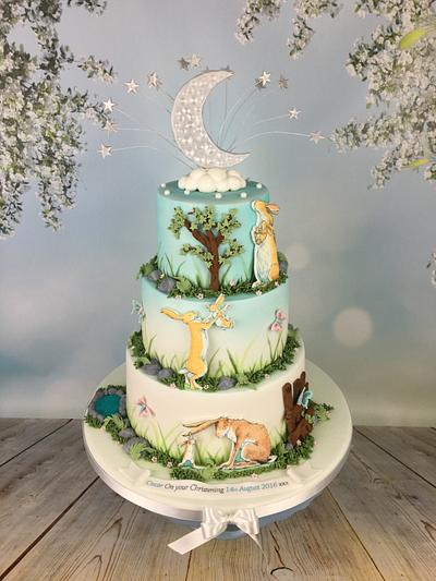 Guess how much I love you , christening cake  - Cake by Melanie Jane Wright