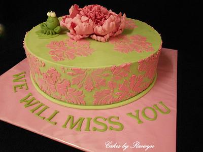 We Will Miss You Mrs Thompson - Cake by Raewyn Read Cake Design