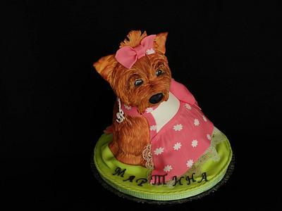 Yorkie girl - Cake by Diana