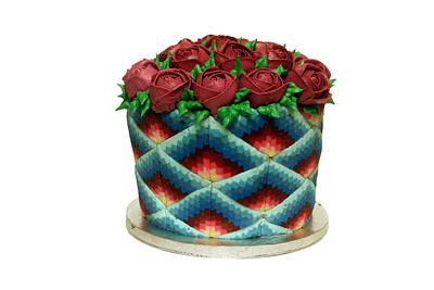 Ombre rose cake - Cake by Sumerucreations