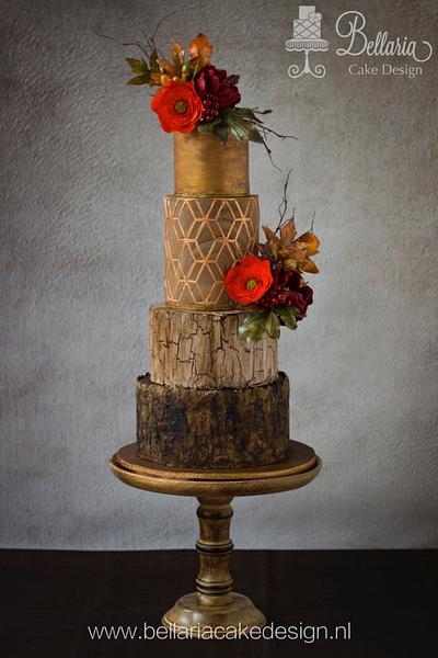 Autumn's Glow - Cake by Bellaria Cake Design