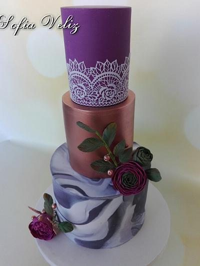 Marmol,Flores y cobre - Cake by Sofia veliz