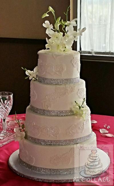 White lace wedding cake - Cake by mareg88