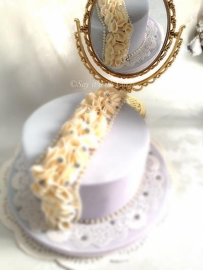 Ruffles and Pearls Cake - Cake by Say it with Cakes