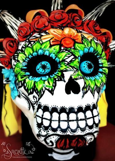 Dia de los Muertos Skull - Cake by Sucrette, Tailored Confections