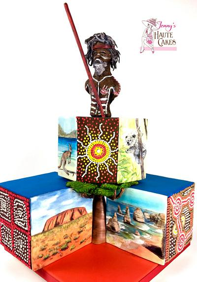 """""""Walk About"""" for ACADA Australia Collab - Cake by Jenny Kennedy Jenny's Haute Cakes"""