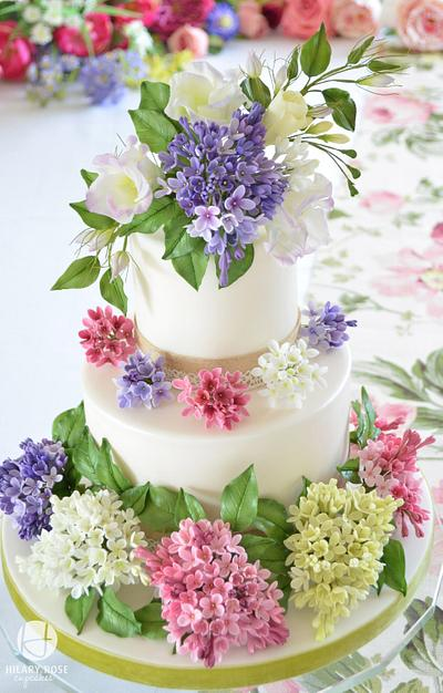 Lilac Blossom - Cake by Hilary Rose Cupcakes