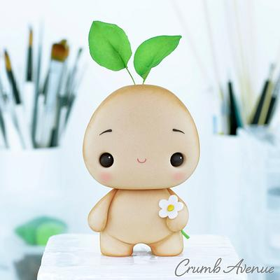 Cute Sprout Cake Topper :) - Cake by Crumb Avenue