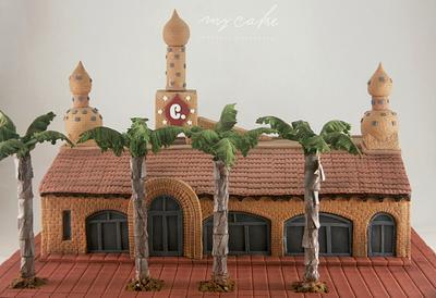 """Fachada salón """"El Campanario"""" - Cake by Natalia Casaballe"""