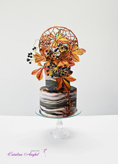 Stained Glass Autumn Bakerswood Challenge  - Cake by Catalina Anghel azúcar'arte