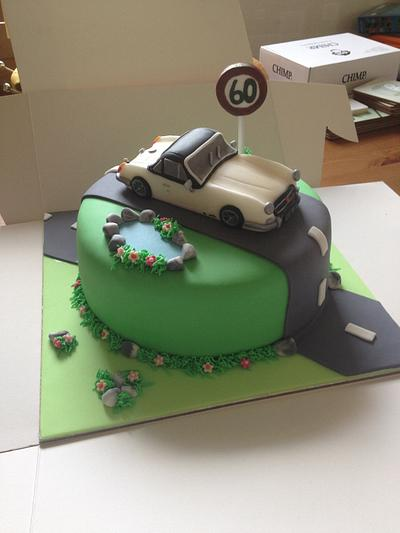 MG Midget Car Cake - Cake by Julie Anderson