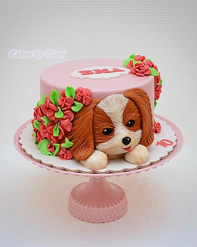 Puppy in the garden - Cake by Cakes by Toni