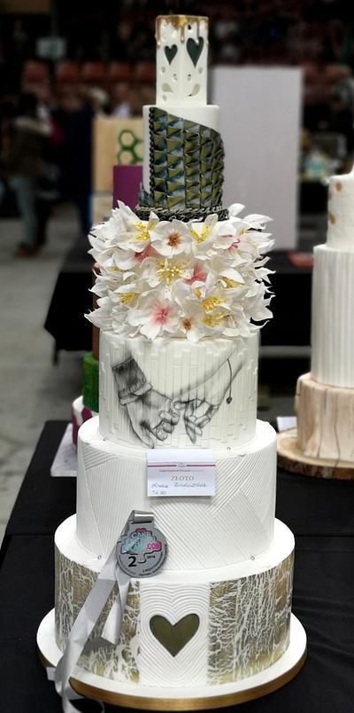 2nd place of wedding cake on Cake Festiwal Poland 😍 - Cake by Monika