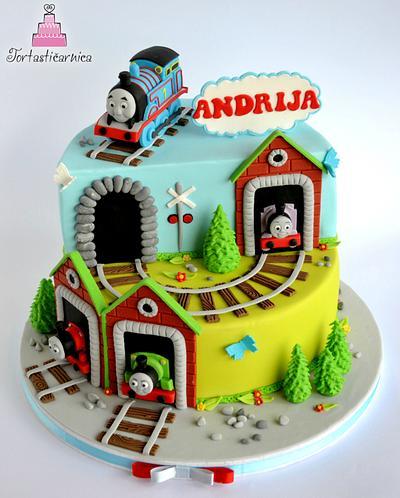 Tomas the train cake - Cake by Nataša