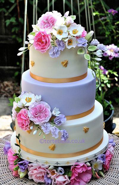 Summer Flowers - Cake by tortebella