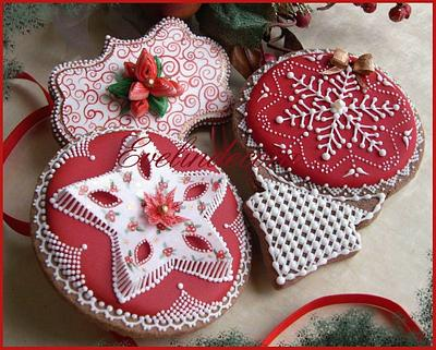 Christmas cookies: wafer paper and icing 🎄 - Cake by Evelindecora