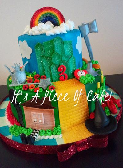 Wizard of Oz Cake Buttercream Icing, Fondant Accents - Cake by Rebecca