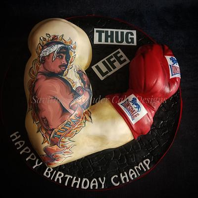 Boxing arm tattoo cake - Cake by Savitha Alexander