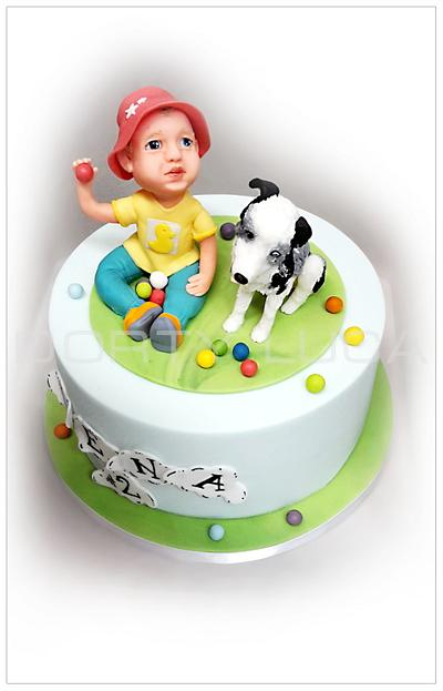 Boy & dog - Cake by Dorty LuCa