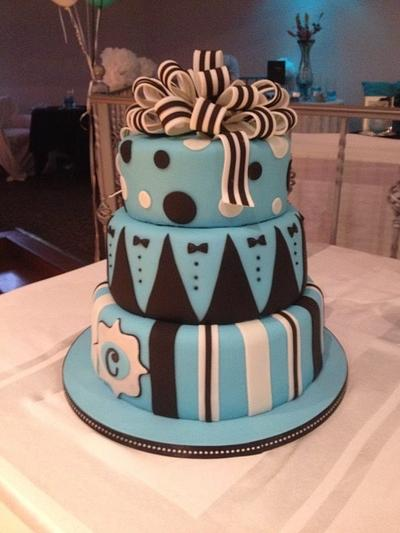 Male 50th Birthday Old Hollywood Style - Cake by Daniele Altimus