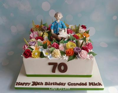 70th flower arranging - Cake by Carol