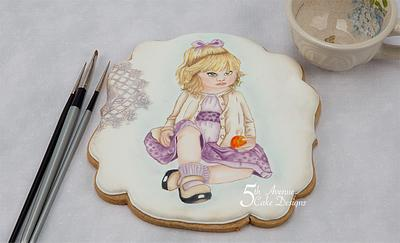 An Age of Innocence Hand Painted Cookie Course 💕 😇💕 - Cake by Bobbie