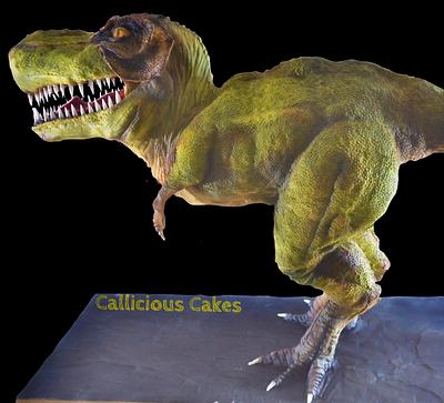 T-Rex Cake  - Cake by Calli Creations